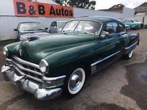 1949 Cadillac Series 61 Sedanette Green 3 Speed Automatic Coupe Woodville Park Charles Sturt Area Preview