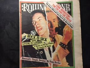 2 ROLLING STONE MAGAZINES FROM THE 1970's! HENDRIX / SEX PISTOLS