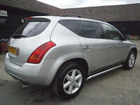 05 NISSAN MURANO 3.5 V6 AUTOMATIC 4X4 ONLY 53K FSH 11 LAST OWNER 10 YEAR SUPERB