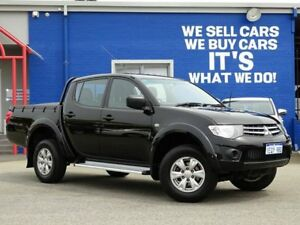 2015 Mitsubishi Triton MN MY15 GLX Double Cab 4x2 Black 4 Speed Sports Automatic Utility Welshpool Canning Area Preview