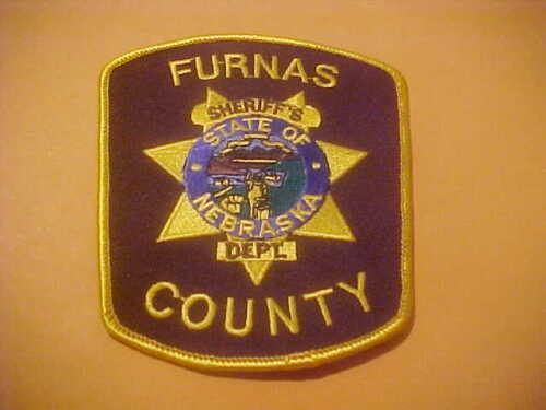 FURNAS COUNTY NEBRASKA  POLICE PATCH SHOULDER SIZE NEW