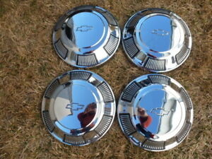 1968 Chevy dog dish hubcaps - Chevy steel 15 inch rims
