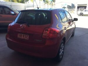 2007 Toyota Corolla ZRE152R Ascent Red 6 Speed Manual Hatchback