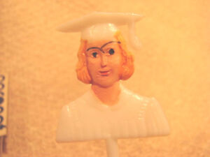 Vintage Graduation Cupcake Picks Cake Toppers LOT 36 Girl Female Student