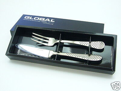 Japanese Global Steak Knife   Fork Gtj 01 Stainless Steel High Quality Japan