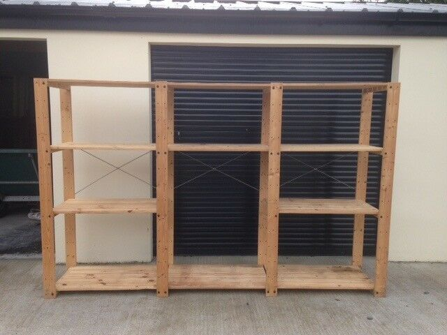 Ikea sten  Ikea (Sten) Wooden Adjustable Storage Shelves x 3 Bays | in ...