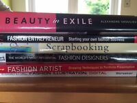 Selection of 6 fashion design books for sale