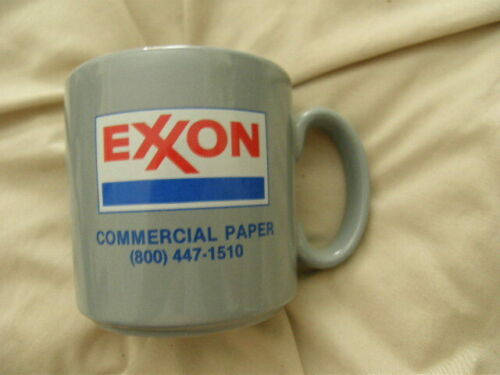 EXXON Commercial Paper England Mug Excellent for Coffee, Tea, Cocoa New FREE 48