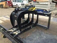 New skid steer stump digger grapple bucket - ONE ONLY!