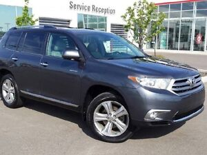 2013 Toyota Highlander 4WD LTD, Navie, Leather Heated Seats, Sun