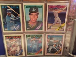 Mint 1988 Topps and Topps Traded baseball card sets