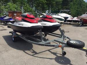Two 2011 Sea-Doo GTX 155 PWCs with Trailer - Managers Special!