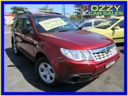 2011 Subaru Forester MY11 X Red 4 Speed Auto Elec Sportshift Wagon Minto Campbelltown Area Preview