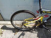 boys raleigh mountain bike in vgc
