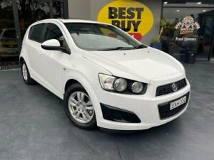 2012 Holden Barina TM MY13 CD White 6 Speed Automatic Hatchback Campbelltown Campbelltown Area Preview