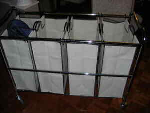 Laundry Hamper with 4 sections on wheels