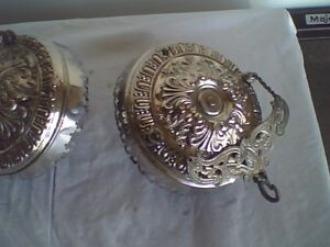 Antique Aladdin / B&H Nickel Plated Ceiling Extension Hanger