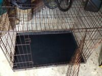Large Folding Metal Wire Cage, crate, playpen. dog or cat