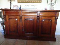 Exquisite Italian Victorian Repro Mahogany Sideboard