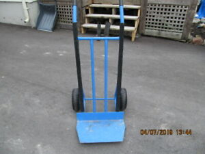 STEEL HAND TRUCK WITH NEW WHEELS