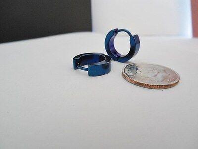 Men's Stainless Steel Hoop / Huggie Pierced Earrings  on Rummage