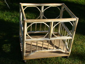 Rattan Framed Utility Cart