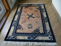 Large Chinese Hand made Wool Rug