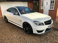 2012 Mercedes C63 AMG Edition 125 - Coupe - Pearl White - Red Leather - 63k