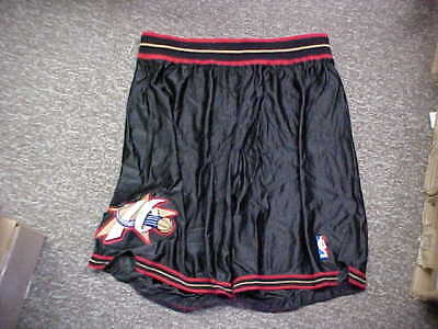 a6cff60bf40 NBA Philadelphia 76ers Basketball Team Issued Game Shorts Reebok Black Size  42