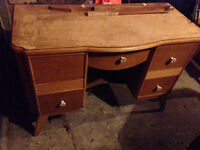 1930s Solid Wood Dressing Table
