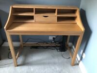 John Lewis Extending 'Loft' Desk in Ash / wood colour