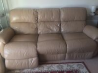 Set of Used DFS (100% Leather) Navona luxurious reclining (electrical) sofa set (2&3 seaters)