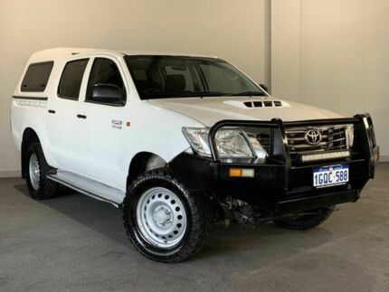 2015 Toyota Hilux KUN26R MY14 SR (4x4) White 5 Speed Manual Dual Cab Pick-up Bayswater Bayswater Area Preview