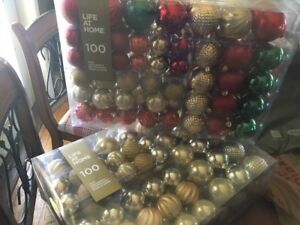 Two  100-piece sets of My Life Christmas ornaments
