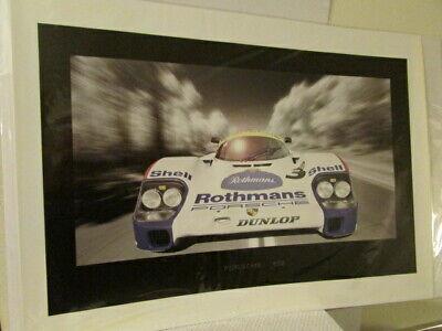 VINTAGE Porsche 956 Coupe Race Car Poster