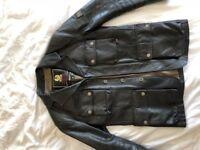 Belstaff Leather 4 Pocket Motorcycle Jacket