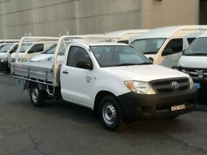 2006 Toyota Hilux TGN16R Workmate White 5 Speed Manual Cab Chassis Revesby Bankstown Area Preview