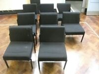 8 Reception Chairs . Black colour . £15 for the set
