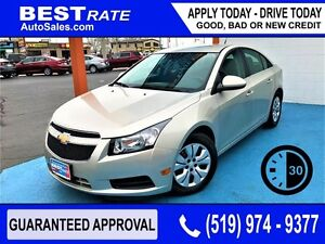 CHEVY CRUZE - APPROVED IN 30 MINUTES! - ANY CREDIT LOANS