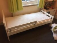 Nearly new white childs IKEA counting sheep bed.