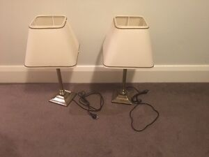 2 bedside table lamps Cammeray North Sydney Area Preview