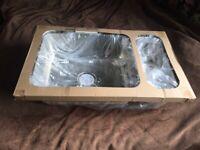 IKEA stainless steel sink, HILLESJON, 75cm long, 46 cm deep, brand new