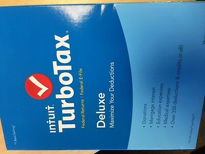 Turbotax Deluxe 2015 Federal   Fed Efile Turbo Tax Preparation Intuit Pc Mac