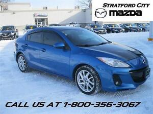 2013 Mazda3 GT NAVIGATION! LEATHER! NEW TIRES! Rates from 0.9%
