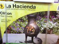 Chiminea Hacienda outside fire heater