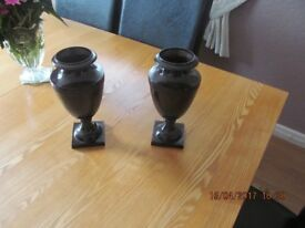 URNS x 2. Cast metal bronze effect,Edwardian style