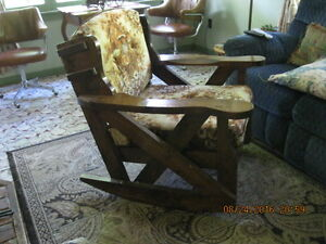 unique vintage rocking chair..made in Calgary