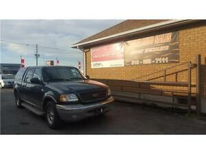 2002 Ford F-150 King Ranch****LEATHER ******TOPPER***** Kitchener / Waterloo Kitchener Area image 1