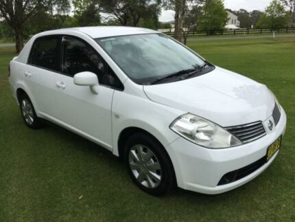 2006 Nissan Tiida C11 ST White 4 Speed Automatic Sedan Tuggerah Wyong Area Preview