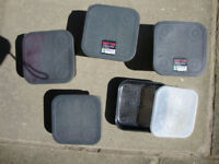4 Used Maggot Bait Tubs and a Maggot Riddle